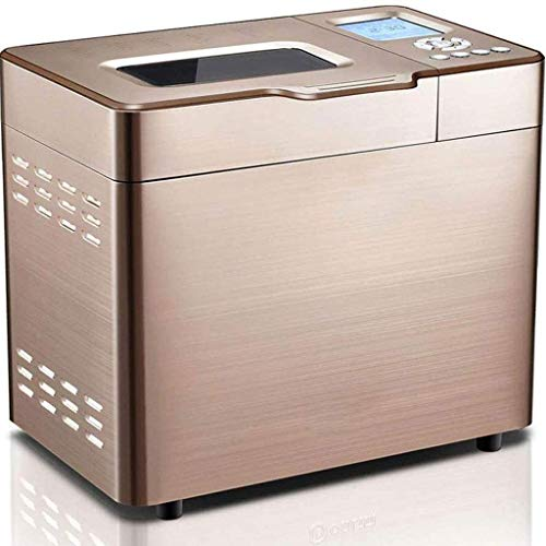 GJJSZ Panificadoras,Panificadora doméstica Multifuncional automática de Acero Inoxidable,Función de Memoria de Apagado,Conservación del Calor