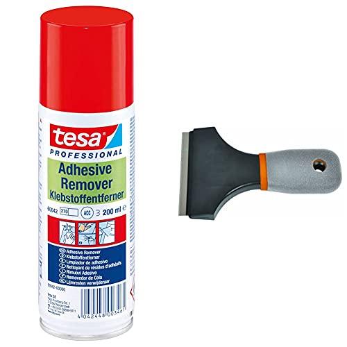 Tesa Klebstoffentferner farblos 200ml & Avit AV12021 Universal-Schaber