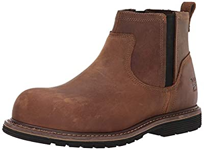 Timberland PRO Men's Millworks Chelsea Composite Safety Toe Industrial Boot, Brown Gaucho, 9.5 Wide