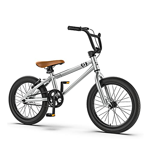 16/20 Pulgadas Bicicleta MontañA NiñO Bicicleta Infantil MontañA,Freno En V/Cuadro Acero Con Alto Contenido Carbono/Rueda Auxiliar ExtraíBle/NiñOs Mayores 6AñOs/Guardabarros Gratis
