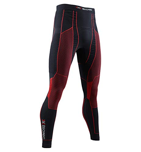 X-Bionic Moto Energizer 4.0 Men Pants Homme, Opal Black/Signal Red, FR : 2XL (Taille Fabricant : XXL)