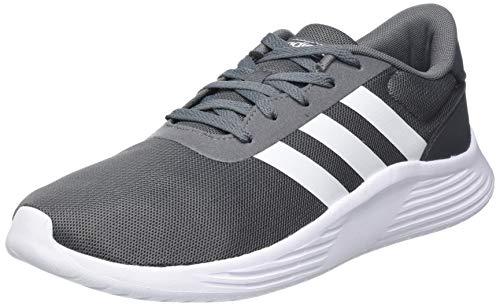 adidas Lite Racer 2.0, Sneaker Hombre, Grey/Footwear White/Footwear White, 43 1/3 EU