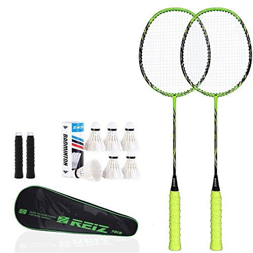 SLRMKK Alta Tensione in Fibra di Carbonio Piena di Alta qualitàracchette da Badminton a Corde Rack Racchetta da Badminton con Asta di Design Professio