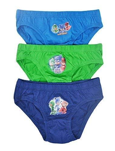 Aumsaa para niños Personajes 100% Calzoncillos Algodón Ropa Interior Slips Pantalones Paquete de 3 - P J Máscara Design 2, 4-5 Años