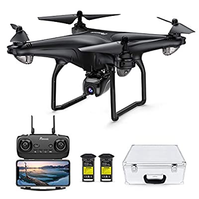 Potensic D58 Drone with 4K Camera for Adults, 5G WiFi HD Live Video, GPS Auto Return, RC Quadcopter for Adult, Portable Case, 2 Battery, Follow Me, Easy Selfie Beginner and Expert-Upgrade