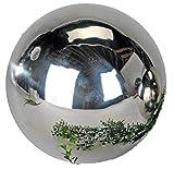 Formano Gartendeko Gartenkugel Dekokugel Dekoobjekt Edelstahl glänzend 25 cm | Modern Edel Stilvoll