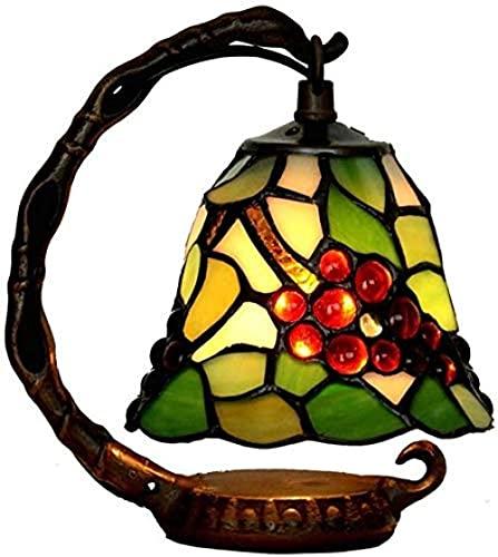 DIMPLEYA Lámpara de Mesa Retro lámpara de Mesa Tiffany Estilo Europeo Retro glaaling lampana Noche luz Dormitorio Sala de Estar Antigua Mesa de café Mesa de Comedor
