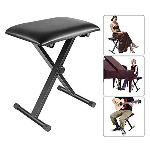 NBLYW Verstelbare X-vormige bank, piano bank stoel toetsenbord bank - kussens comfort, ijzer rubber voet vouwkruk, piano, toetsenbord
