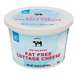 Amazon Brand - Happy Belly Fat Free Cottage Cheese, Kosher, 16 Ounces