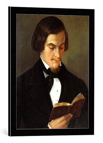 kunst für alle Bild mit Bilder-Rahmen: Amalia Keller Bildnis des Dichters Heinrich Heine 1797-1856 1842