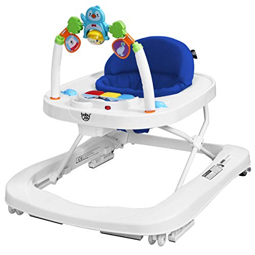 BABY JOY Baby Walker, 2 in 1 Foldable Activity Behind Walker with...