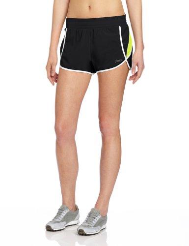 ASICS Pantalón Corto Dividido de 7,6 cm, Mujer, WS1637.18, Negro/Wow, M