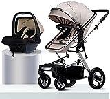 Cochecito de bebé Ligero recién nacido Bebé Carrito de viaje Socha para el recién nacido Niño pequeño Landscape Landscape Baby Stroller PUEDE ASISTIR AUTORIZADOR DE ARQUITO DE FUERTE DE LA RUEDA Coche