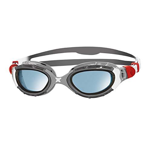 Zoggs Unisex-Adult Predator Flex Schwimmbrille, Silber/Grau/Blau, Regular