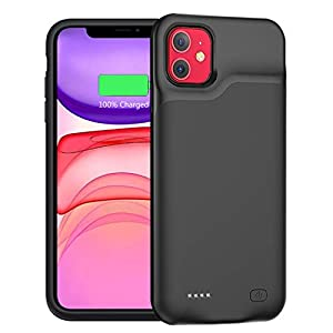 Battery Case For Iphone 11 Upgraded 6000mah Portable Protective Charging Case Compatible With Iphone 11 61 Inch Rechargeable Extended Battery Charger Case Black