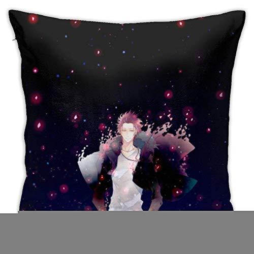 ChenZhuang Anime K Missing Kings - Fundas de almohada decorativas de algodón para salón, sofá, cama, fundas de almohada suaves, 45 x 45 cm