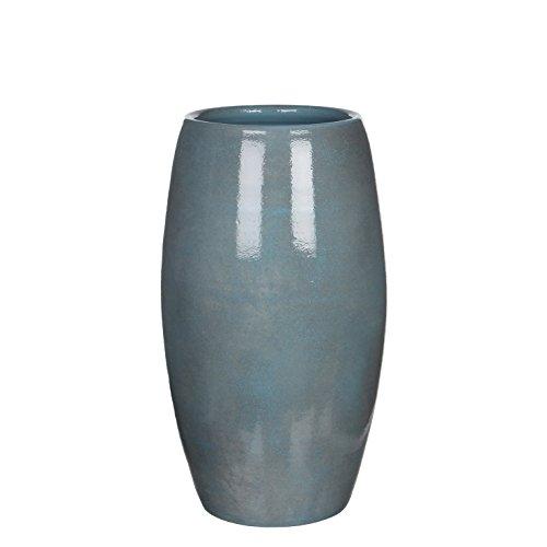 Mica Decorations Deko Vase Lester Keramik blau H 50 x Ø 30 cm