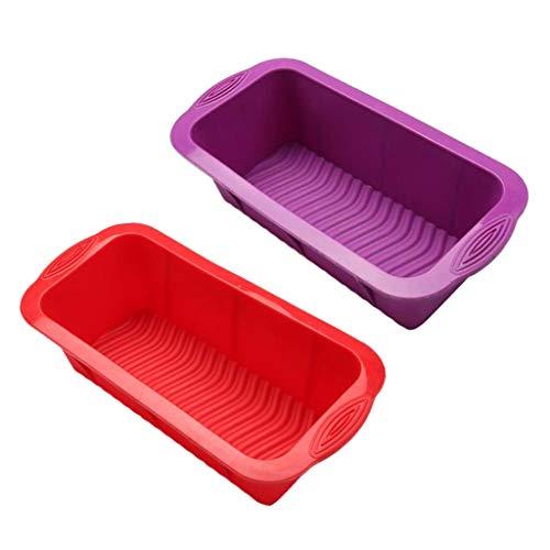 B Blesiya 2 Piezas de Silicona Rectangular Toastbox Kuchenformen Kasten Silikonbackform Brotbackform