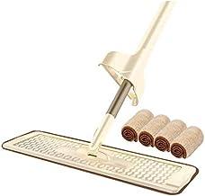 MU Dwustronny mop z mikrofibry, uchwyt na mop płaski, 360 spinek i automatyczne ściskanie, 36 cm, mop do czyszczenia, łazi...