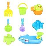 TOYANDONA Bambini Spiaggia di Sabbia Giocattoli Set Castello di Stampi di Sabbia Stampi della Benna della Spiaggia Spiaggia Tool Kit Irrigazione può Sandbox Giocattoli per I Bambini Outdoor