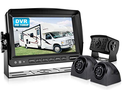 Fookoo HD Wired Backup Camera System Kit, 7'' DVR...