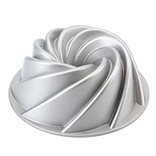 Tosnail 9Inch NonStick Fluted Cake Pan Round Cake Pan Specialty and Novelty Cake Pan