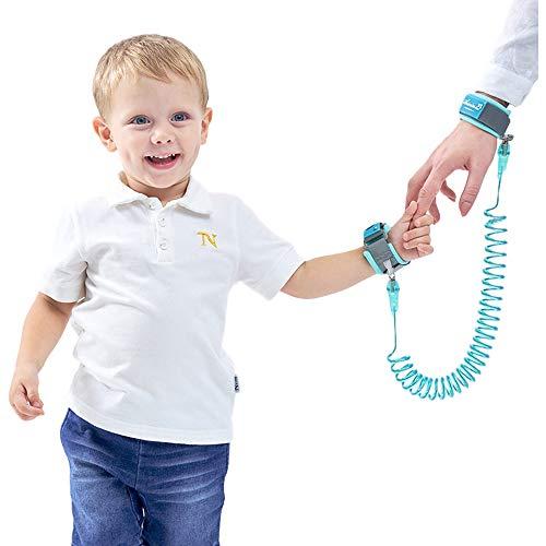 OZCOWBABY Sicherheitsleinen Kinder Sicherheits Seil Anti Lost Wristband Mit Schloss Reisen Helfer Kinder Sicherheitsgurt Schnur für Handgelenk Link 2M Blau