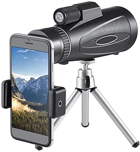 Telescopio monocular HD, telescopio de Alta Potencia, monocular Impermeable a Prueba de Niebla con Soporte y trípode, Zoom súper telefoto con Enfoque Limpio para Aves