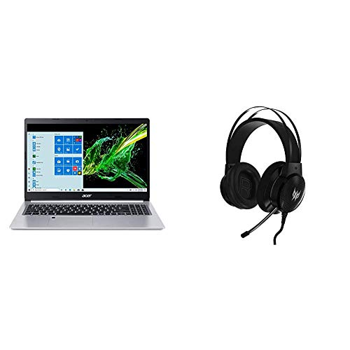 Acer Aspire 5 A515-55G-57H8, 15.6' Full HD IPS Display, 10th Gen Intel Core i5-1035G1 with Acer Predator Galea 300 White Gaming Headset