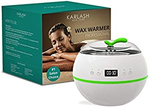 Karlash New Version Waxing Kit Professional Digital Wax Warmer Kit for Full Body Hair Removal Depilatory Good for Woman & Man Wax Heater Beads Wax Can Salon Facial and Skin