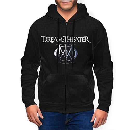 SDTSHOP Dream Theater - Sudadera con capucha y cremallera para hombre As Pic M