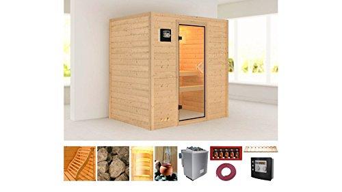 baumarkt direkt Sauna »Sonja«, 196/144/198cm, 38mm,9-KW-Ofen ext. Steuerung 9-KW-Ofen mit...