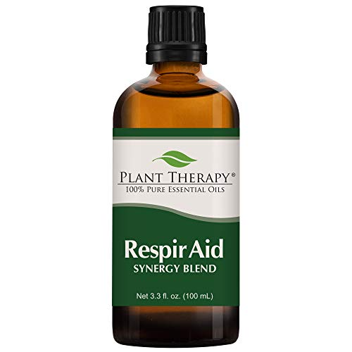 Plant Therapy Respir Aid Essential Oil - Sinus, Airway and Congestion Clearing Synergy Blend 100% Pure, Undiluted, Natural Aromatherapy, Therapeutic Grade 100 mL (3.3 oz)