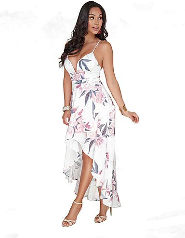 Women's Boho Sheath Dress  Floral Backless