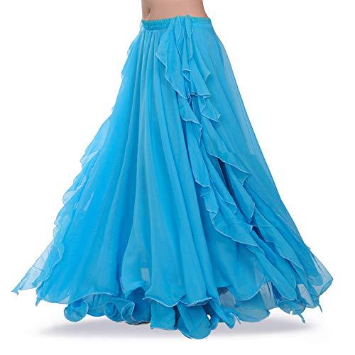 ROYAL SMEELA Gute Qualität Neues Damen Bauchtanz Rock Kostüm Tanzen Ausbildung Chiffon Röcke Kleid Performance Bekleidung