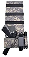 Explorer Tactical Under Mattress Bed Handgun Holster with Tactical Flashlight Loop