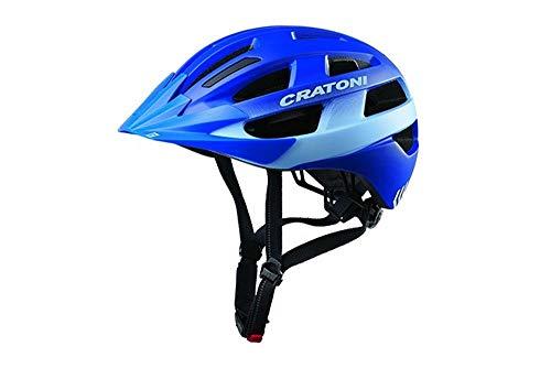 RennMaxe Cratoni Velo-X - Blue matt - 52-57 cm - inkl Sicherheitsband - Fahrradhelm Skaterhelm MTB BMX Jugendliche Erwachsene