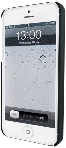 Muvit- Funda carcasa trasera negra tacto goma iphone 5 muvit