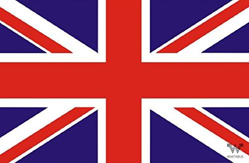 WHATABUS - Adesivo con Bandiera Regno Unito/Regno Unito, 8,5 x 5,5 cm