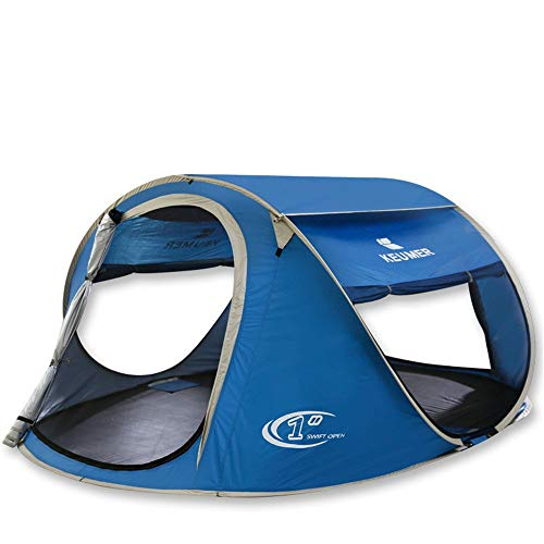 LHQ-HQ 3-4 People Camping Tent Anti Rainstorm Pressing Tent Automatic Pop Up Instant For Outdoor Sporats With Blue Color Automatic Camping Tent