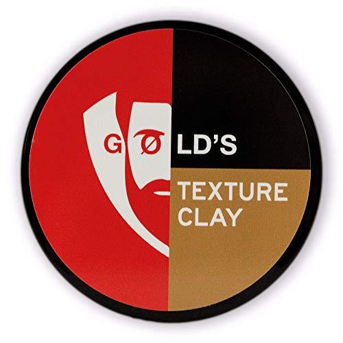 GØLD's Texture Clay (100ml) Haarwachs für mittleren Halt und natürlichen Finish -Texturierendes Haarwax für jeden Hairstyle- einfache Anwendung wie Hair Cream, Haargel oder Pomade