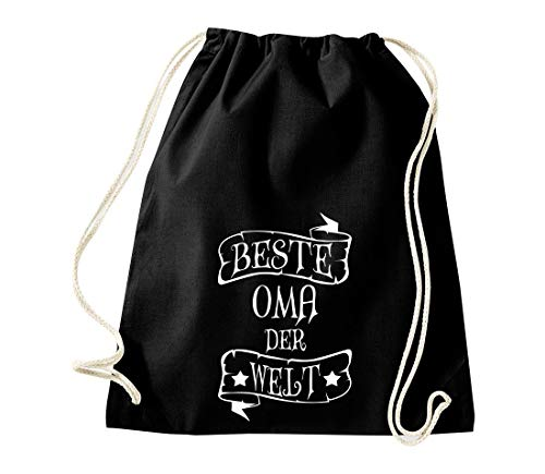Shirtinstyle - Sacca da Palestra con Scritta in Inglese Family Friends, Idea Regalo, GYMmix5-11705schwarz, Best Grandma, 46 cm x 36 cm