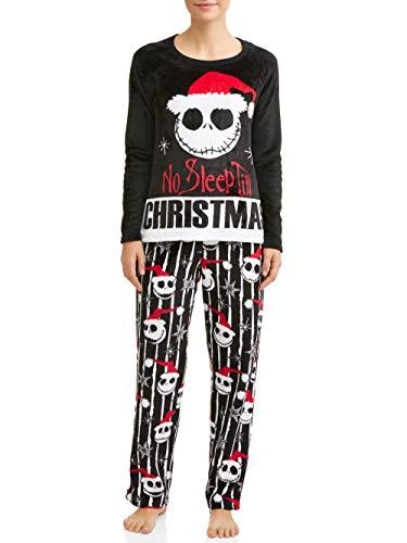 Disney Jack Skellington Nightmare Before Christmas Damen-Pyjama-Set -  Schwarz -  M 8/10 US