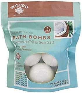 Bolero Beverly Hills Moisturizing Paraben-Free Coconut Oil and Sea Salt Bath Bombs - 3 ct.