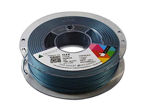 SMARTFIL FLEX, 1,75 mm, GLITTER BLUE, 750 g Filament für 3D-Drucker von Smart Materials