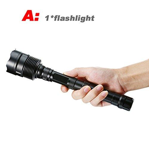 A, 16 T6 : 80000lumens 3–16 * CREE XML T6 LED puissante lampe de poche éclairage torche Lanterne lampe Flash Light + 3 * 18650 Batterie + Chargeur