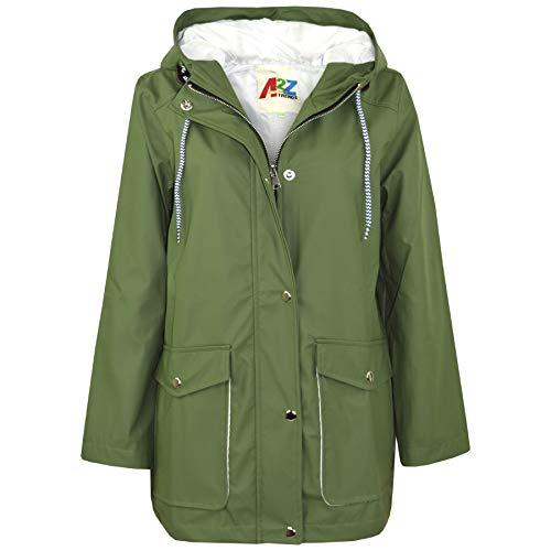A2Z 4 Kids A2Z 4 Kids® Kinder Mädchen Jungen PU Regen Mantel Jacken Windbreaker - PU Raincoat 497 Green 5-6