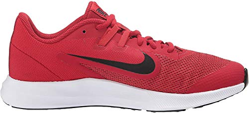 Nike Downshifter 9 (GS), Zapatillas de Atletismo Unisex Adulto, (Gym Black/University Red/White 000), 40 EU