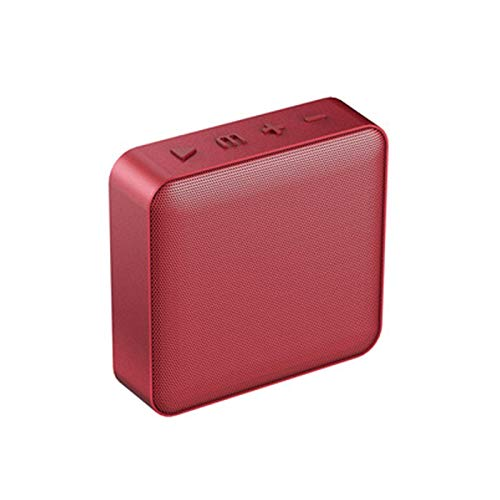 CHYSP Mini-Quadrat-Entwurf drahtloser Bluetooth Lautsprecher Bulit-in 1200mAh Akku Couplet Lautsprecher-Unterstützungs-TF-Karte AUX-Ausgang FM (Color : A)