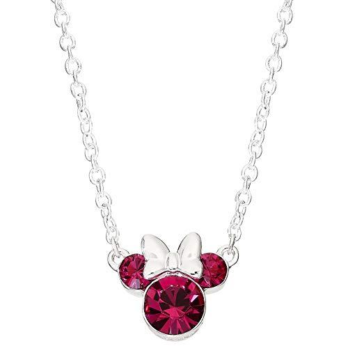 Minnie Mouse Femme Argent sterling Ronde Nest pas applicable Collier - N902352ROCTL-18